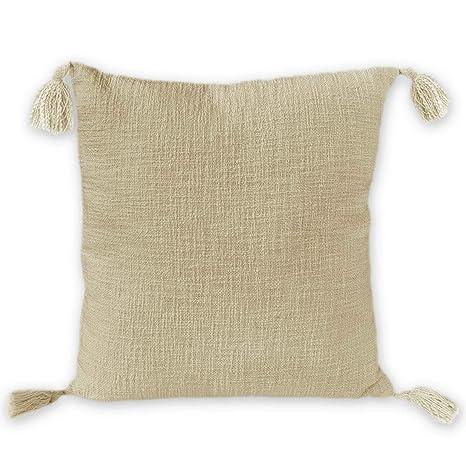 Nielsen Diseño Zoe Funda de cojín, 100% algodón, Beige, 45 x ...