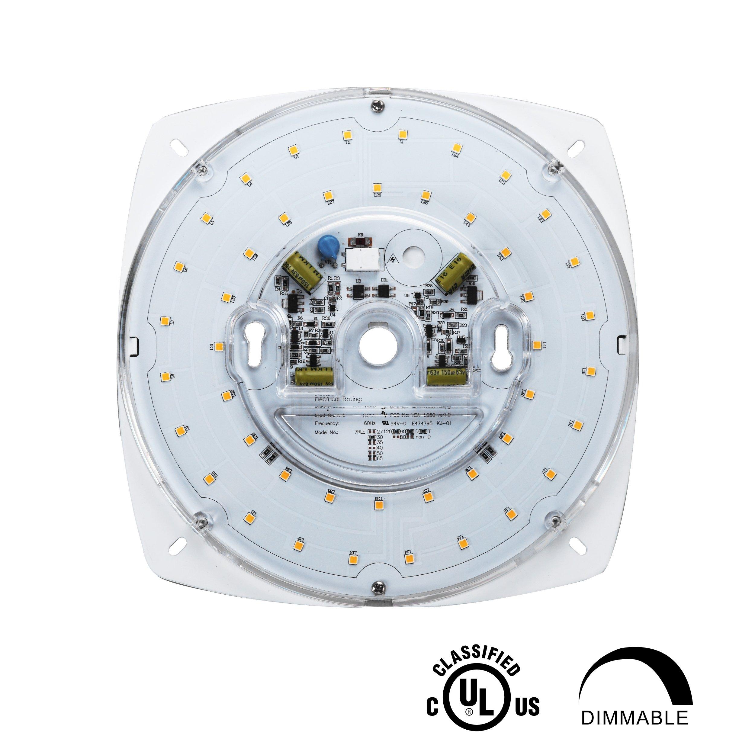 "7/"" Dimmable, 5000K Super White 28W Sunlite LED Retrofit Light Engine"