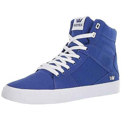 Supra Footwear - Aluminum High Top Skate Shoes, Royal-White, 8 M US Women/6.5 M US Men: Clothing
