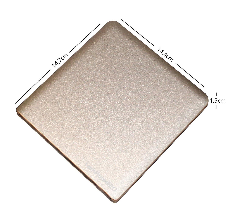 Grabadora de Blu-Ray techpulse120/V2.2 Aluminium Champagner UHD Blu-ray Brenner USB Typ-C