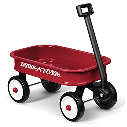 amazon com radio flyer little red toy wagon toys games