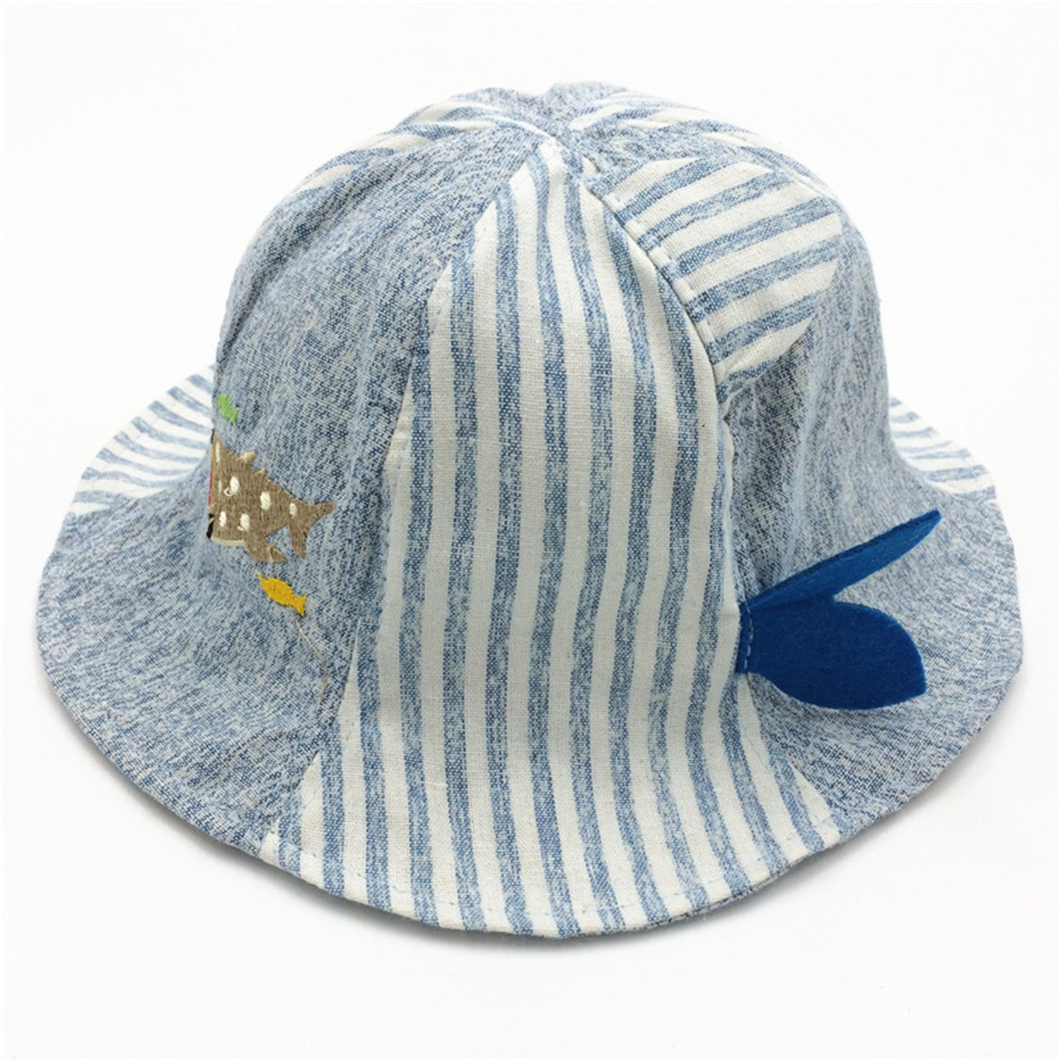 a08d24372ebdd New Spring Summer Baby Girls Sun Hat Cotton Baby Hat Kids Boys Child Caps  Alphabet Striped Baby Striped Fisherman Hat Outdoor Blue One Size at Amazon  ...