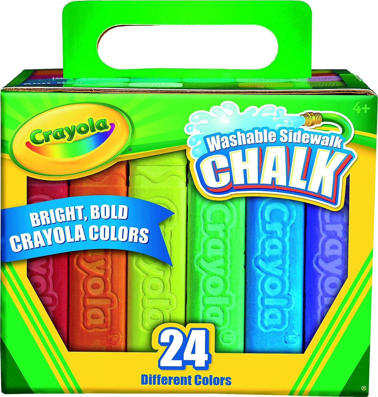 Amazon.com: Crayola 24 Count Sidewalk Chalk (51-2024-E-000): Toys ...