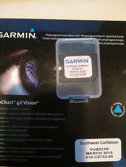GARMIN VUS031R SOUTHWEST CARIBBEAN BLUECHART G2 VISION GARMIN VUS031R SOUTHWEST CARIBBEAN BLUECHART