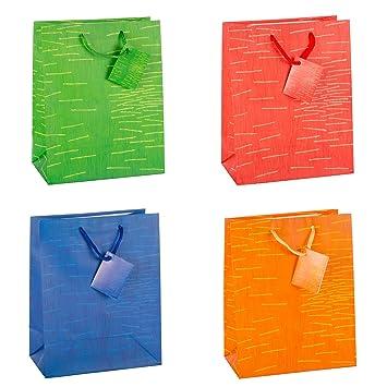 TSI Laura - Bolsas de regalo (tamaño mediano, 12 unidades, 4 ...