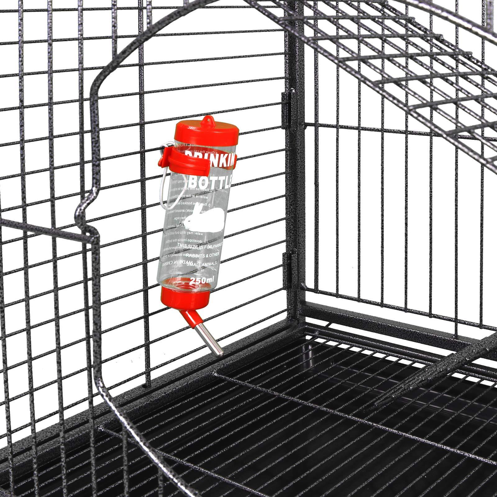 ZENY 37'' Ferret Cage Rabbit Guinea Pig Chinchilla Rat Small Animal House 4 Levels (Black)