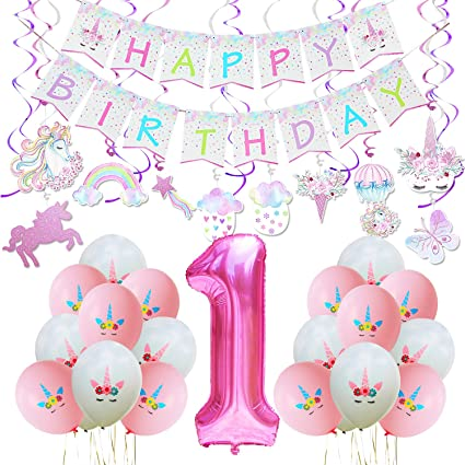 WERNNSAI Unicorn Party Decoration Kit