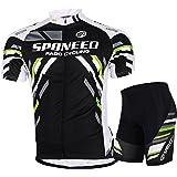Cycling Jersey Short Sleeve Men MTB Bike Clothing Road Bicycle Shorts Padded Pants