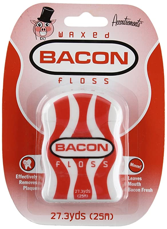 Archie McPhee Accoutrements Waxed Bacon Dental Floss