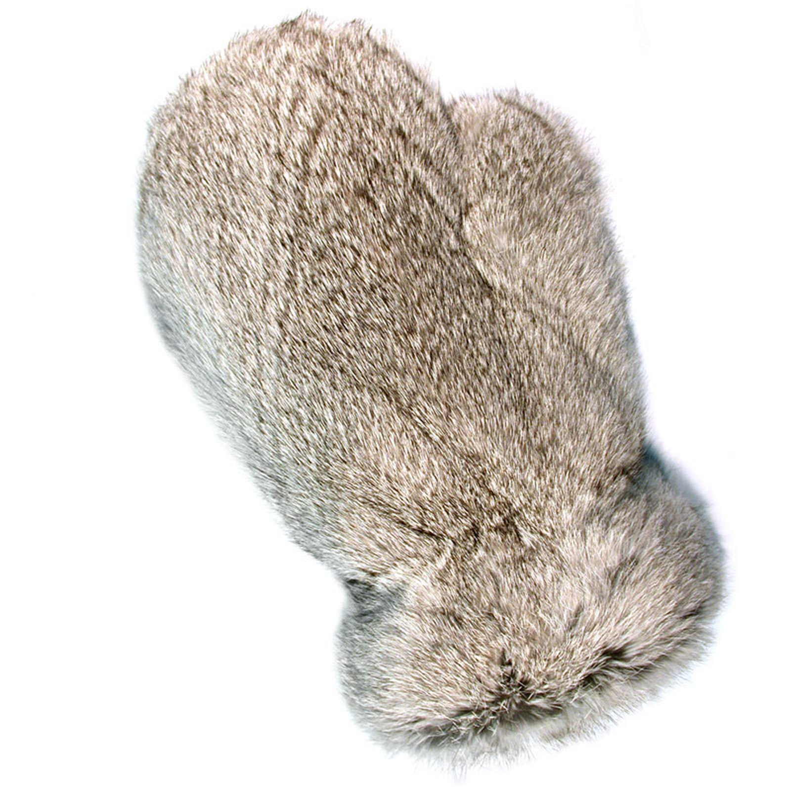 MinkgLove Rabbit Massage Glove, Fluffy & Airy Velvet Soft Feel, Speckled Gray Color, Hand Tailored, Unisex, One Size - Double Sided Fur