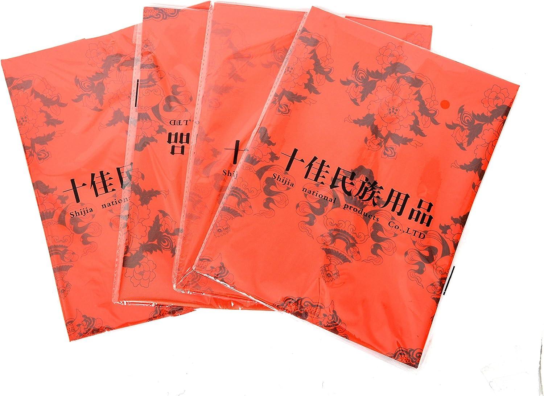 Bermoni Bufanda-Khata-Hecho a Mano tibetana con 8 Impresiones de s/ímbolo auspicioso