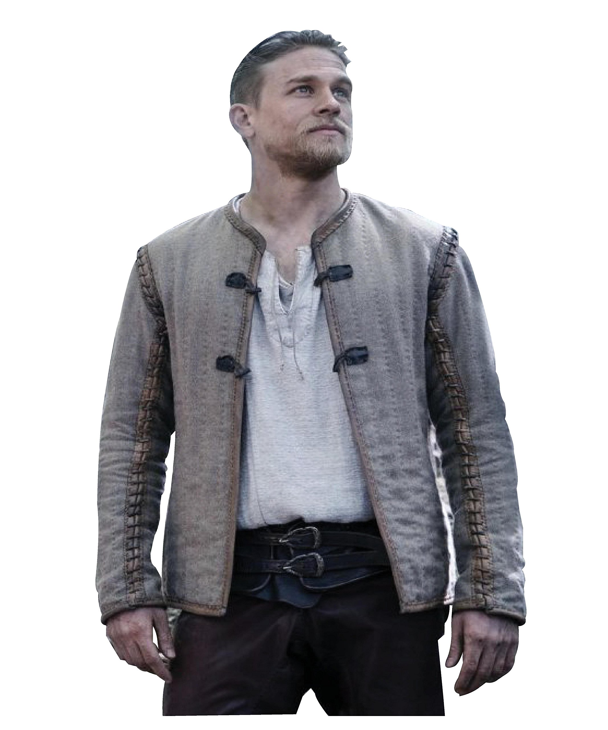 King Arthur Legends Of The Sword Movie Dress Brown Cotton Jacket For Mens L by Class Jackets (Image #1)