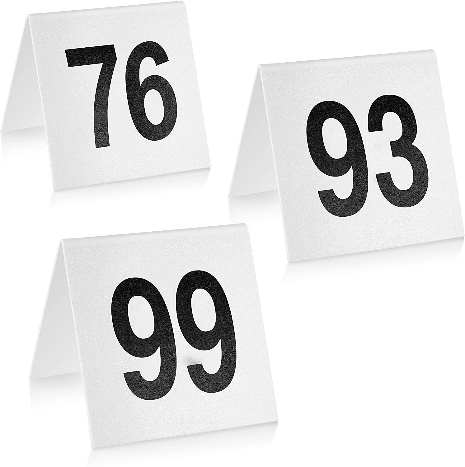 New Star Foodservice 27594 Double Side Plastic Table Numbers, 76-100, 3