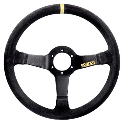 Sparco 015R345MSN Suede Steering Wheel , Black: Automotive
