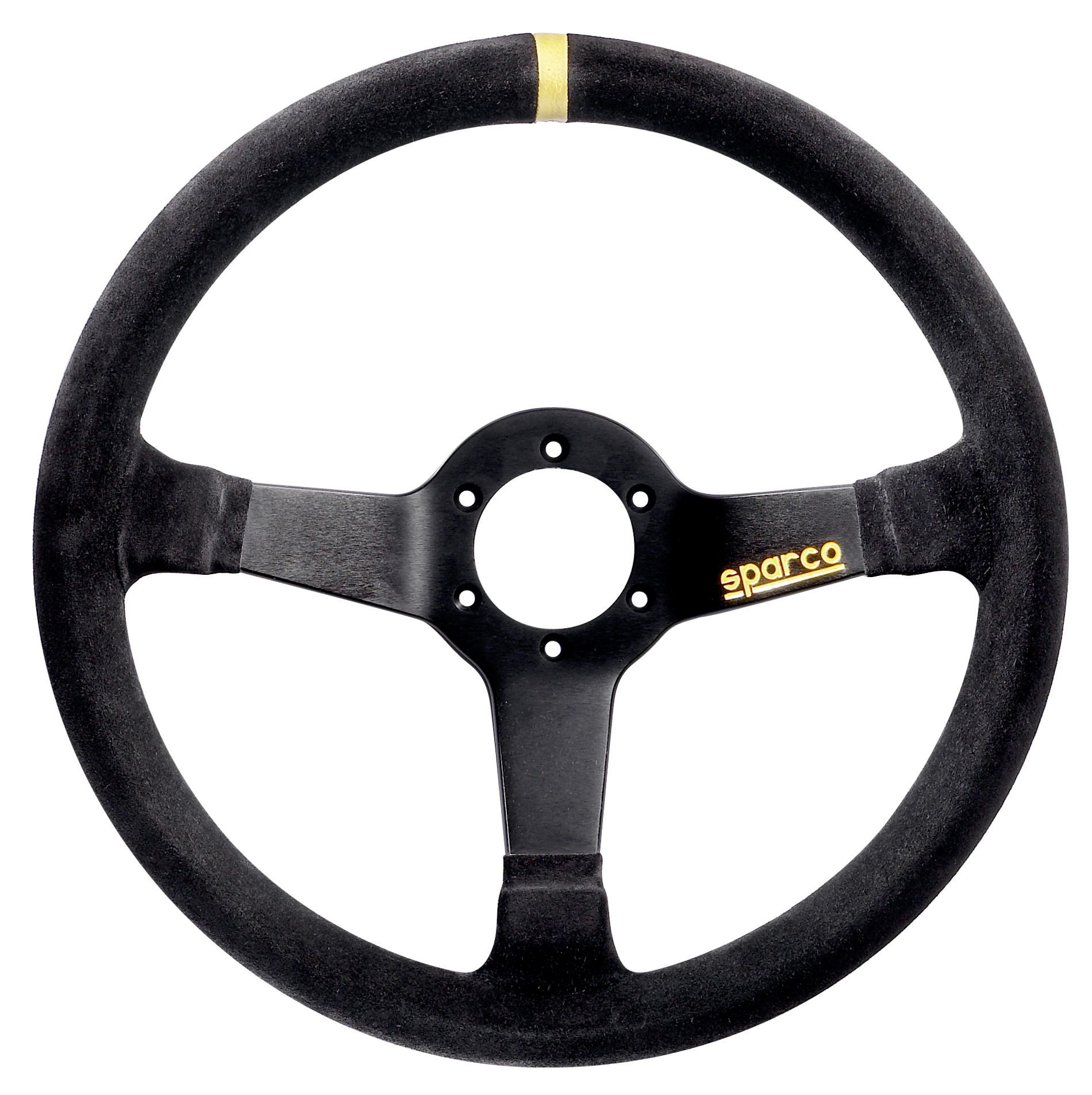 Sparco 015R345MSN Suede Steering Wheel , Black
