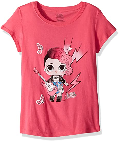 5b67fa3f3 Amazon.com: L.O.L. Surprise! Girls' Glee Club Rocker Short Sleeve T ...