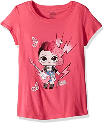 L.O.L. Surprise! Girls Glee Club Rocker Short Sleeve T-Shirt Short Sleeve T-Shirt - Pink