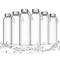 LA VIDA AQUA Glasflaschen 500ml 6 Stück - Trinkflasche Aus Glas Auch Für Kinder BPA-frei Spülmaschinenfest Und Auslaufsicher - Auch Geeignet ALS Wasserflasche Smoothie Flasche & Sport Trinkflaschen
