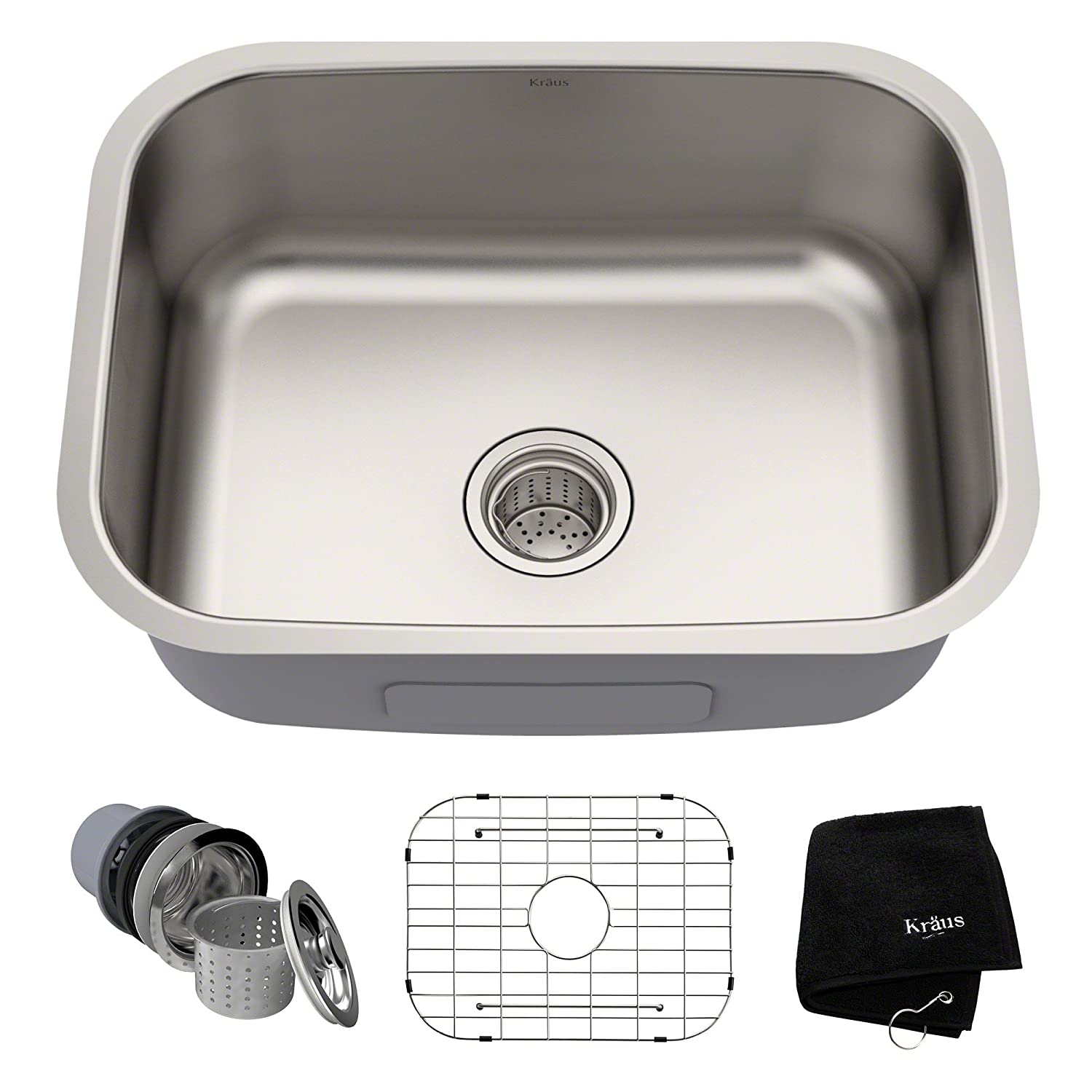 Kraus Kbu12 23 Inch Undermount Single Bowl 16 Gauge Stainless Steel Kitchen Sink Amazon Com