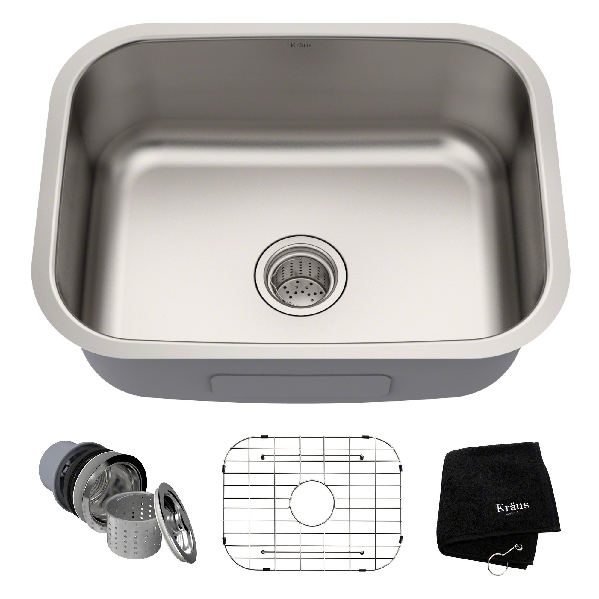 Kraus KBU12 23 inch Undermount Single Bowl 16 gauge Stainless Steel Kitchen Sink by Kraus (Image #1)