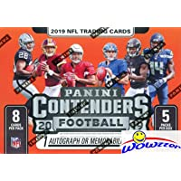 2019 Panini Contenders NFL Football EXCLUSIVE Factory Sealed Retail Box with AUTOGRAPH or MEMORABILIA Card! Look for RC & Autos of Kyler Murray, Daniel Jones, Dwayne Hoskins, Drew Lock & More! WOWZZER