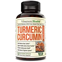 Turmeric Curcumin with Bioperine, Anti-Oxidant Properties, Supports Healthy Inflammatory...