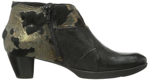 Think! Nola, Boots femme - Noir (Sz/Bronze-12), 39.5 EU