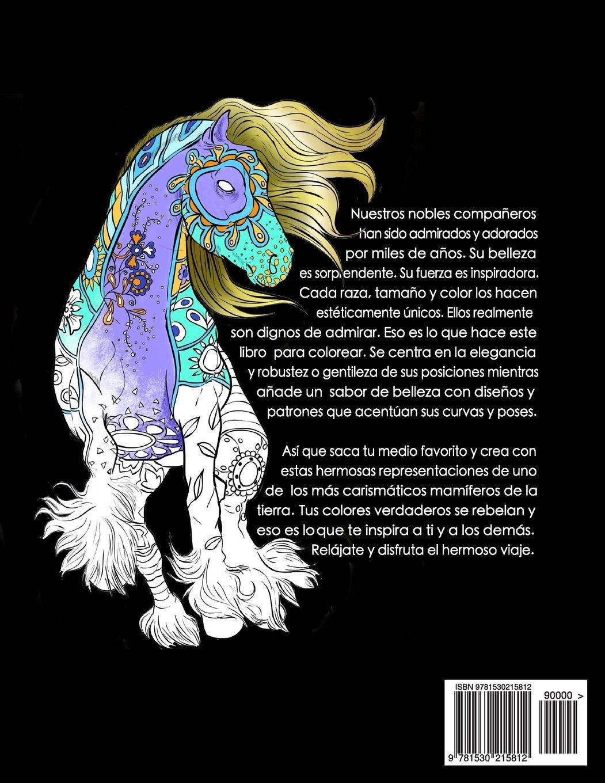 El Maravilloso Mundo De Los Caballos: Un libro de colorear para ...