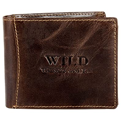 48a3c20ccd1a Mens Leather Wallet Purse from Wild Things Only: Amazon.co.uk: Shoes ...