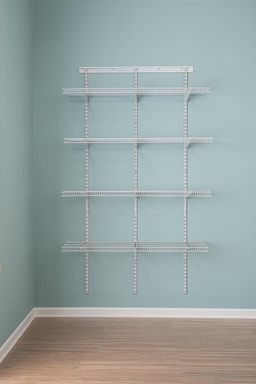 Amazon.com: ClosetMaid 2845 ShelfTrack 4ft. Pantry Organizer Kit ...