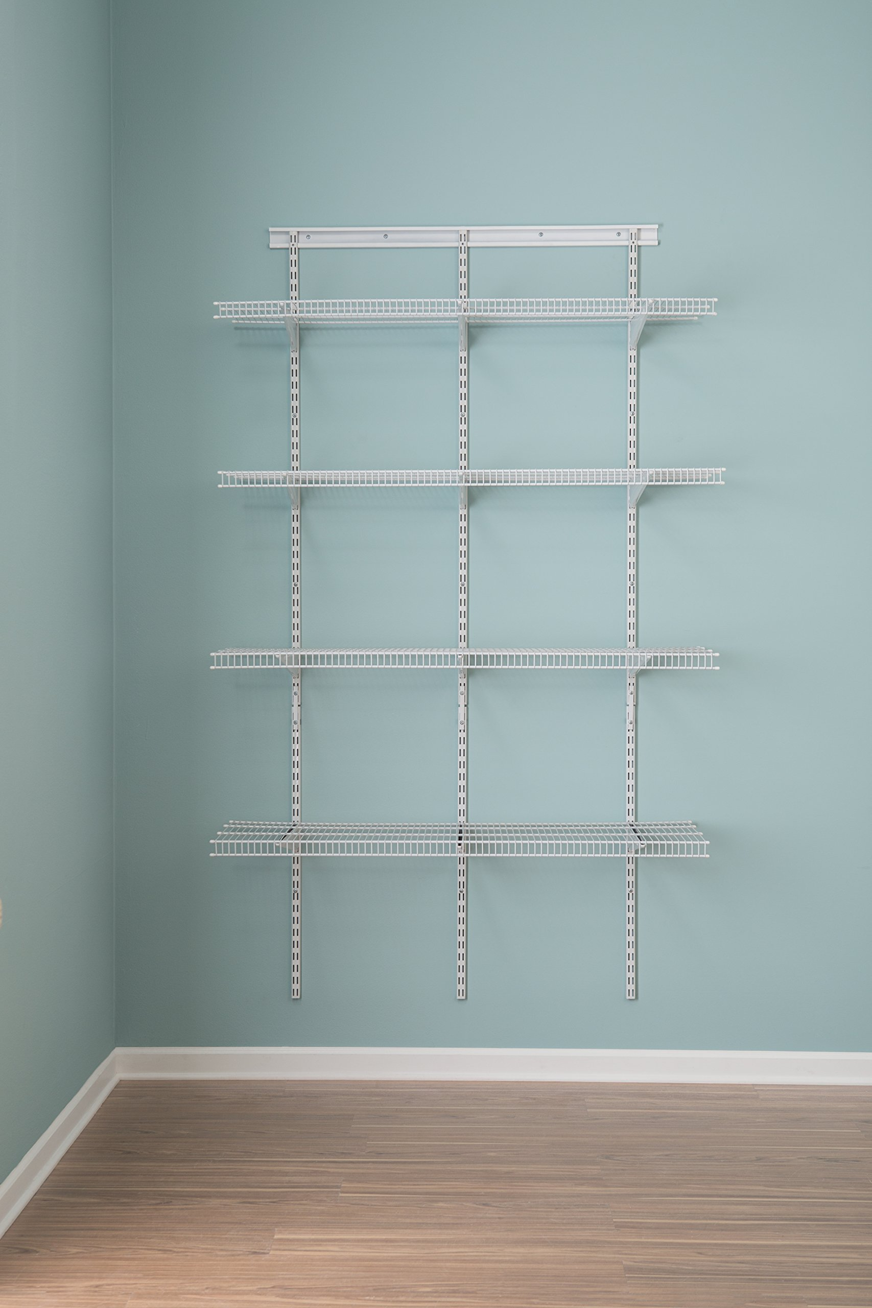 ClosetMaid 2845 ShelfTrack 4ft. Pantry Organizer Kit, White by ClosetMaid (Image #3)