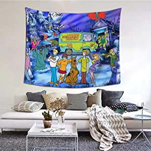 WANGH Tapestry Wall Hanging Scooby-Doo Cartoon Tapestry Wall Art Decoration for Bedroom Living Room Dorm 60