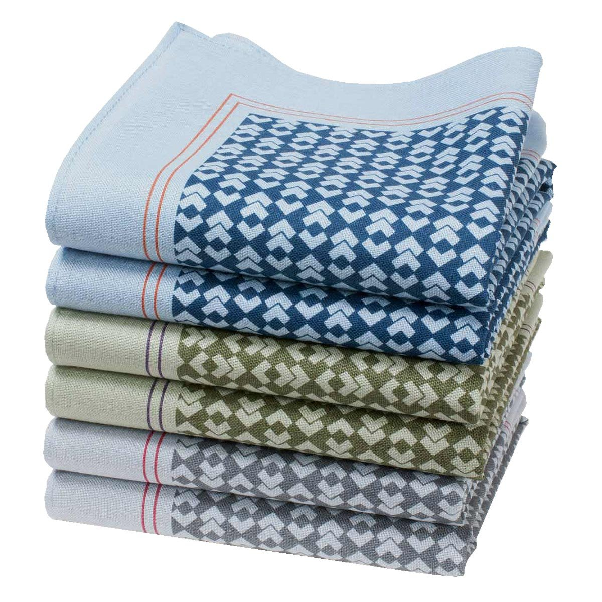 Mens handkerchiefs Gaspard 6 units 16 square