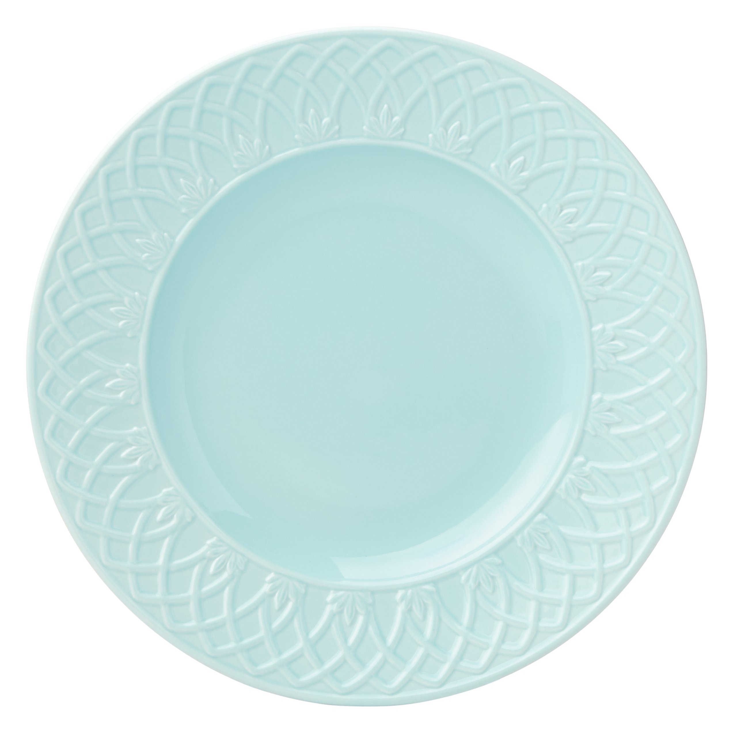 Lenox British Colonial Carved Accent/Salad Plate, Aqua