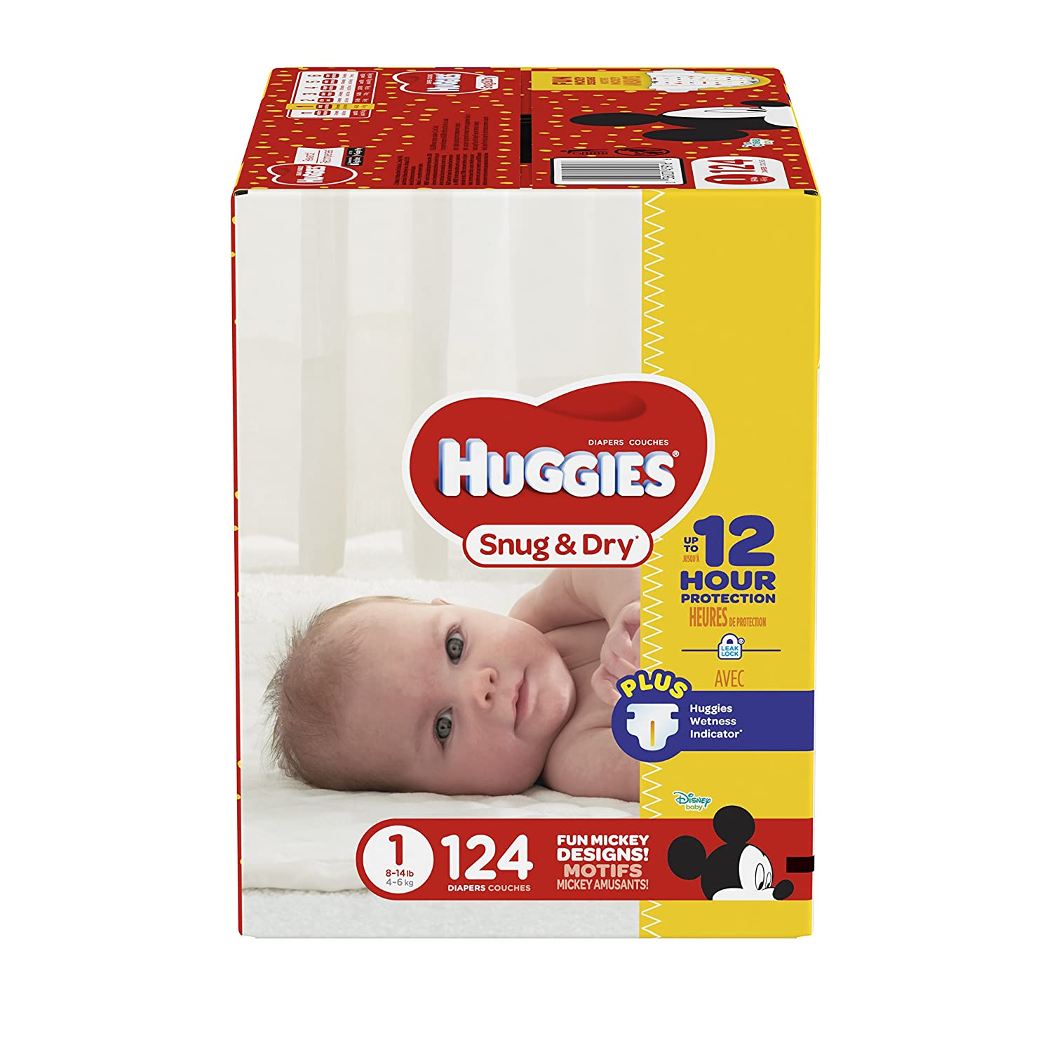 HUGGIES Snug & Dry Diapers, Size 1, 124 Count Kimberly-Clark Corp. CA