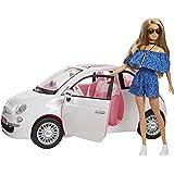 Barbie Coche Fiat, muñeca con coche (Mattel FVR07)