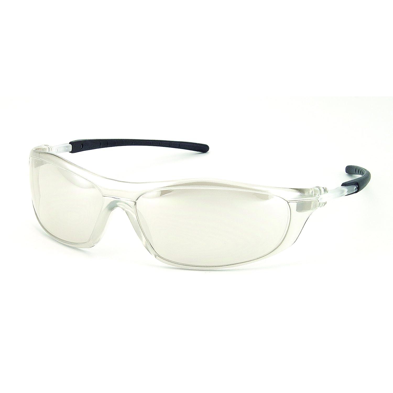 Galeton 11295 Rail Anti-Scratch Wrap-Around Lens Safety Glasses Indoor-Outdoor