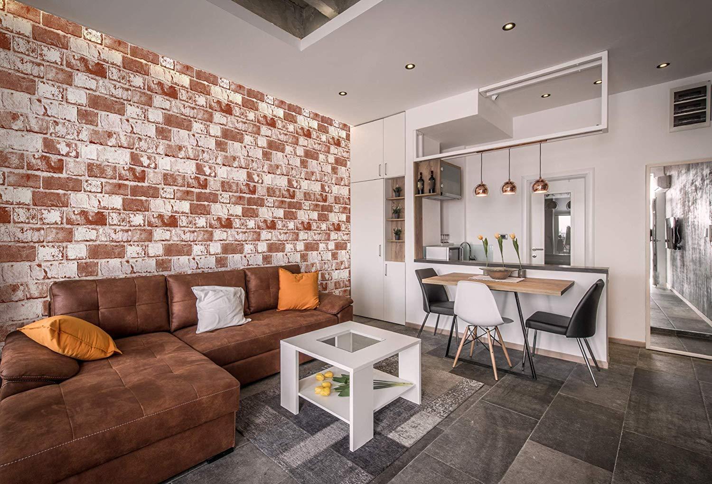 Papel tapiz apilable de ladrillo blanco 19.6x 590 0.15 mm Revestimiento de PVC resistente para cajones Forro extra/íble murales papel adhesivo adhesivo papel tapiz de 50 cm x 15 m