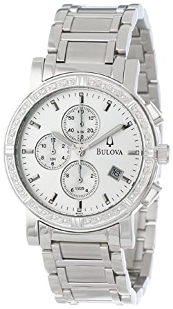 amazon com bulova men s 96e03 diamond accented watch bulova watches bulova men s 96e03 diamond accented watch