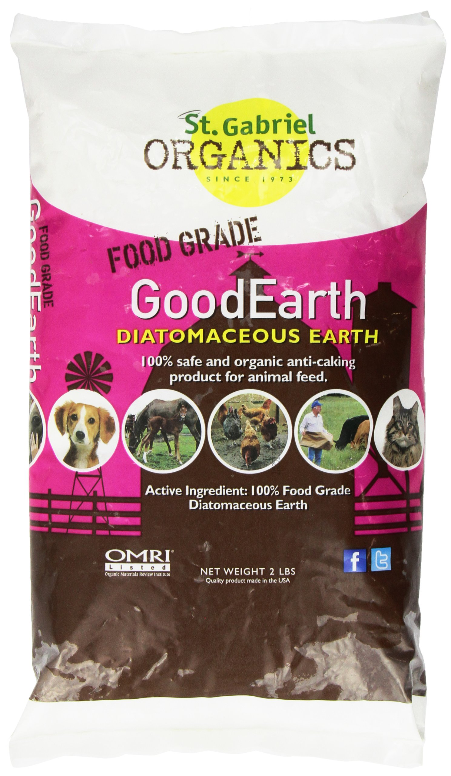 GoodEarth Diatomaceous Earth Supplement for Chicken and Farm AnimalsNET WT 2