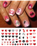 "Valentine's Day Nail Decals Assortment Water Slide Nail Art Decals - Salon Quality 5.5"" X 3"" Sheet!"