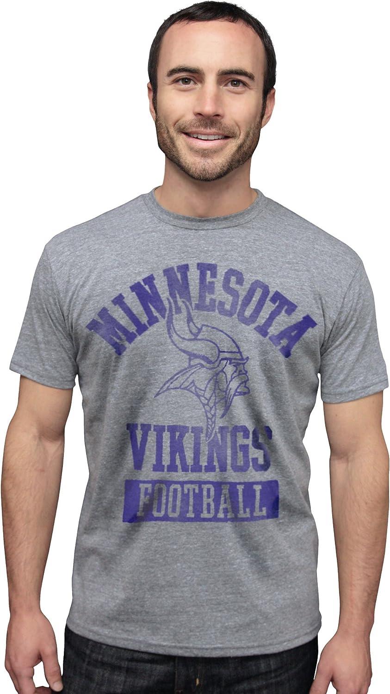 NFL Minnesota Vikings Vintage Triblend Short Sleeve Crew Neck Tee Men's