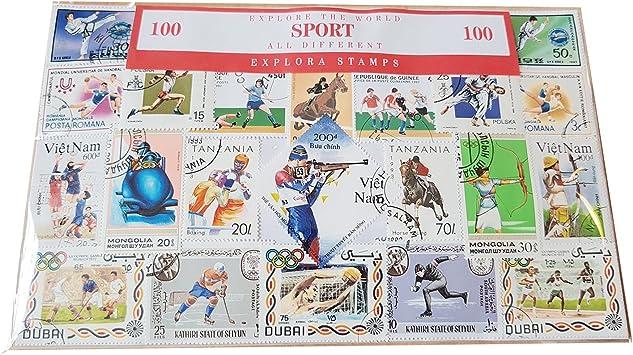 Explora Colección de Sellos Deportivos del Mundo - 100 Sellos Diferentes / Recuerdo Deportes Invierno y Verano: Amazon.es: Juguetes y juegos