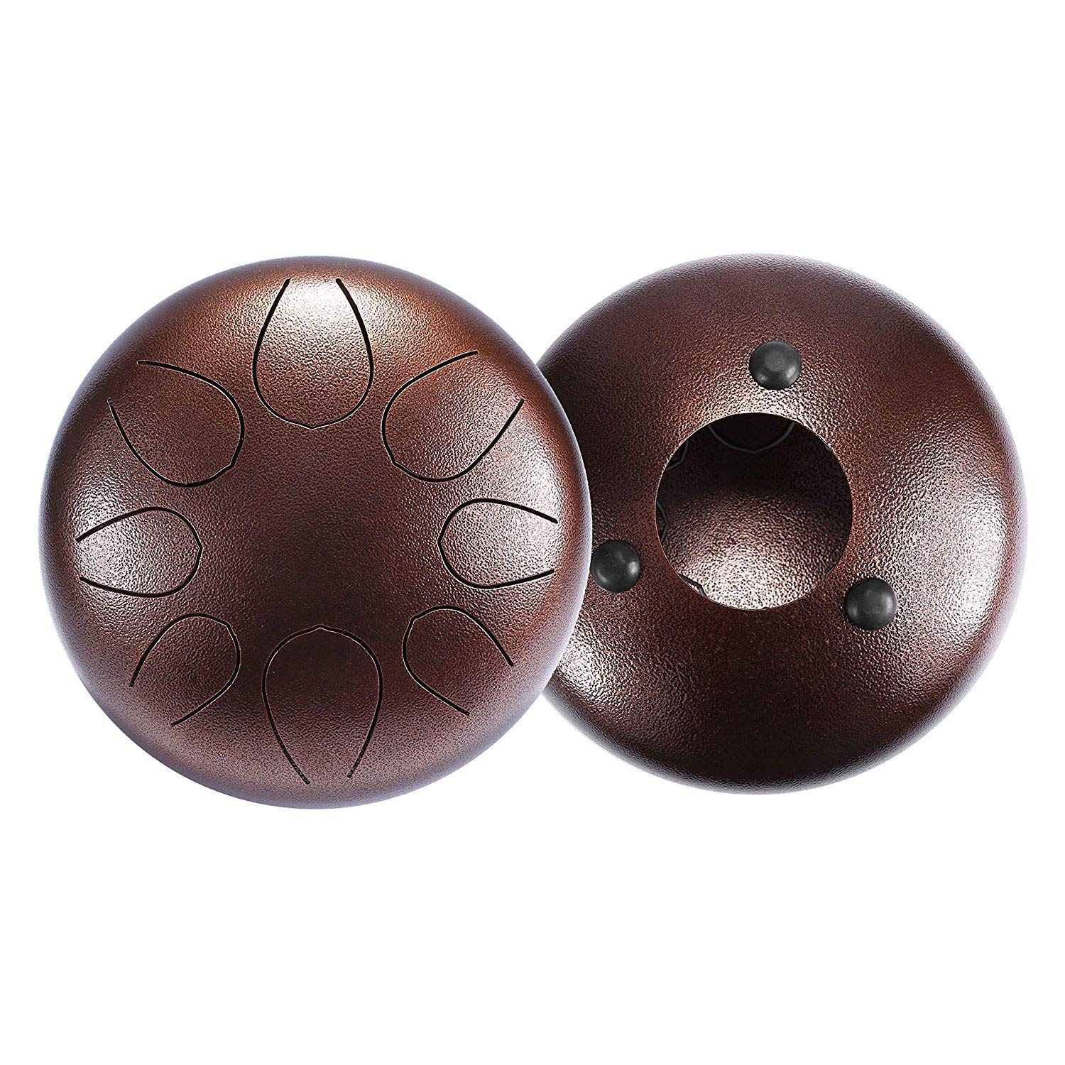 Asmuse 10 Inch 8 Notes Steel Tongue Drum Hand Drum Percussion Instrument with Padded Travel Bag for Meditation Yoga Zazen Sound Healing