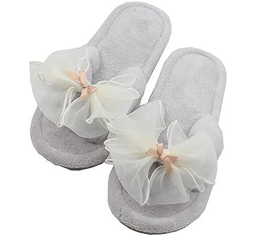 Women's High End Super Plush Velvet Flip Flop House Slippers Spa Thong Sandals Indoor/Outdoor