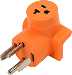 AC WORKS 30 Amp 4-Prong Dryer Wall Outlet Adapter (To Household 15/20A Oulet)