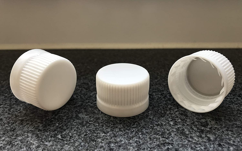 adatti per tutte le comuni bottiglie di vetro e PET con apertura da 28 mm 15 pezzi tappi a vite a mano 10 pezzi MCA PP28 PP 28 Tappi con anello di sicurezza di qualit/à Plastica