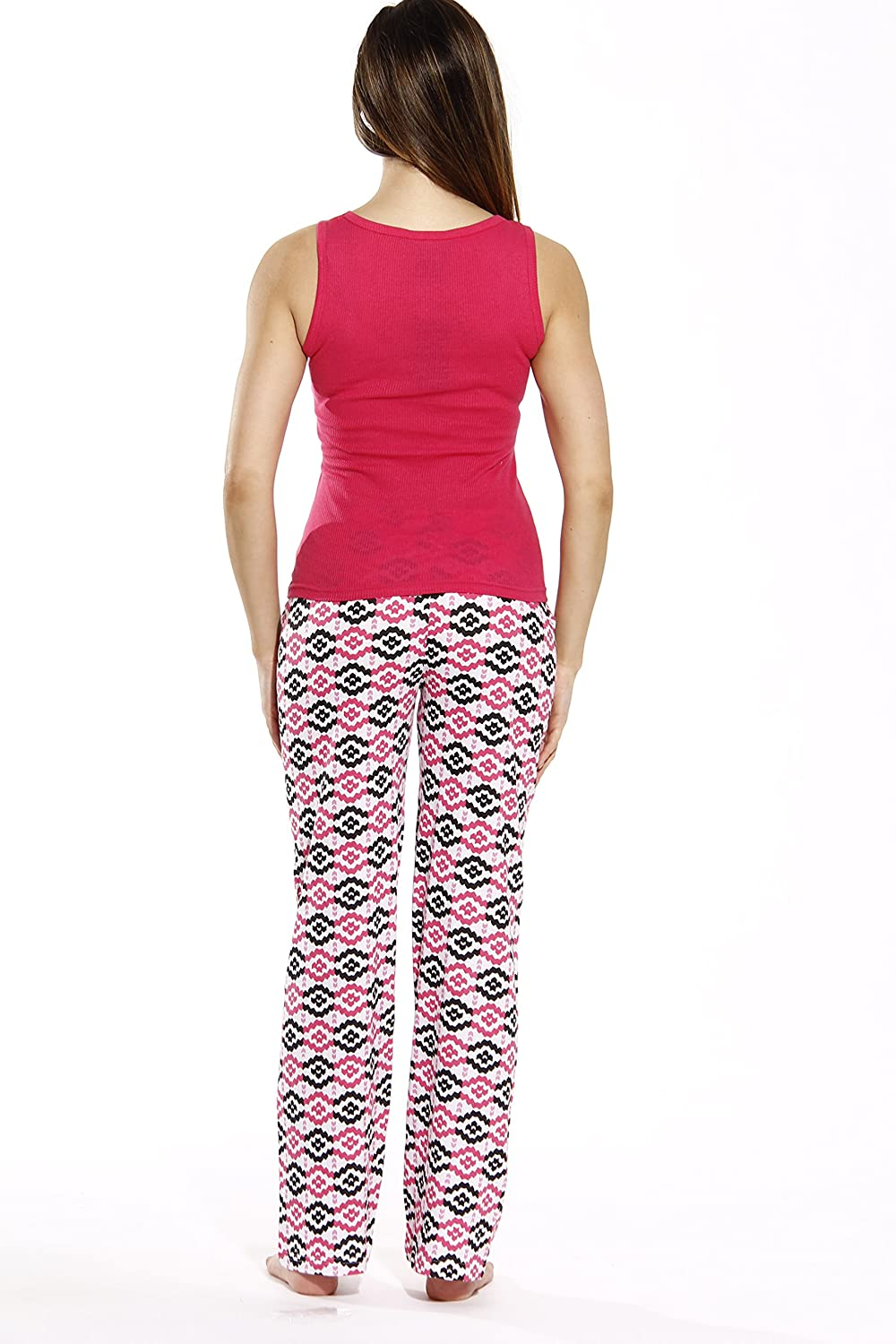 Just Love 100/% Cotton Women Pajama Ribbed Tank /& Jersey Pant Sets