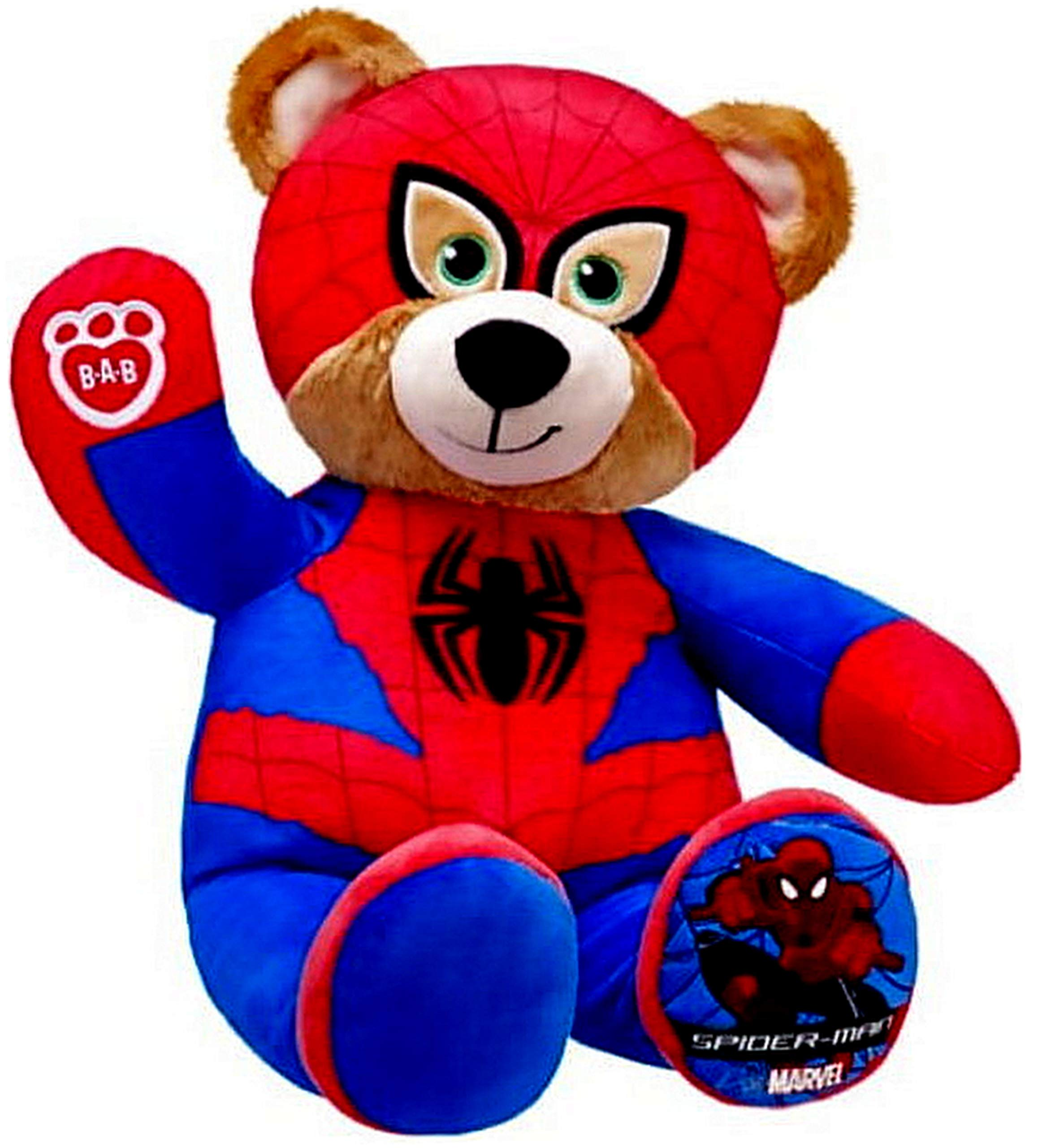 Build a Bear Workshop Spiderman Marvel Superhero Teddy Bear 16'' Plush Toy by BABW Stuffed with Hugs and Good Wishes!