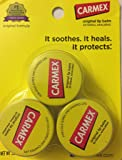Carmex Original Lip Balm 3 Pack (.25 Ounces Each)
